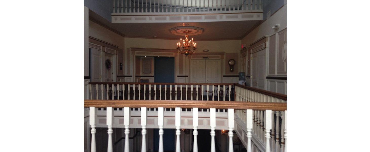 New york interior designer commercial funeral home 2nd floor hall