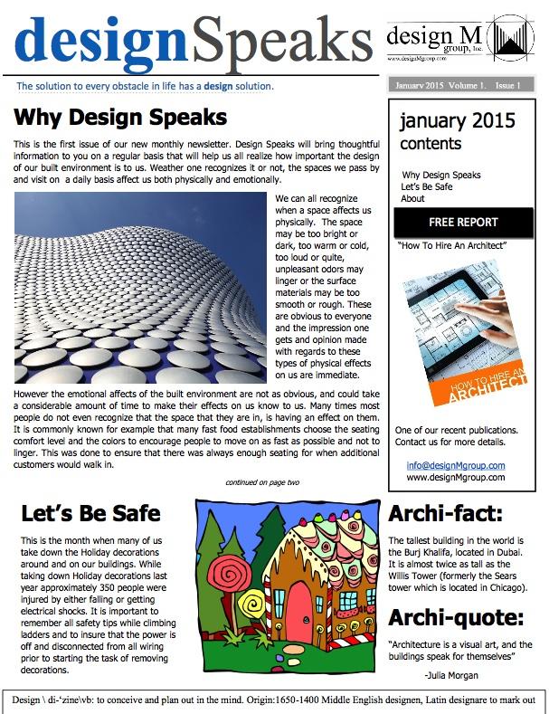 Design Speaks January